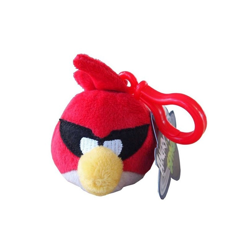 Peluche clip on angry birds space rouge 6cm foxchip - Angry birds rouge ...