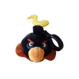 Peluche Clip On Angry Birds Space Noire 6cm