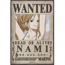 "Poster - One Piece ""Wanted Nami"" NEW 2017 52x38cm"