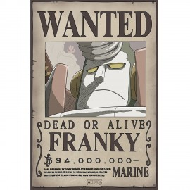 "Poster - One Piece ""Wanted Franky"" NEW 2017 52x38cm"