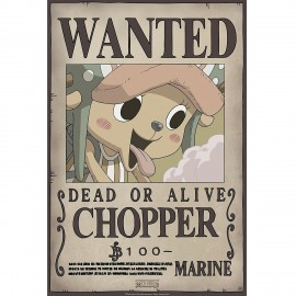 """Poster - One Piece """"Wanted Chopper"""" NEW 2017 52x38cm"""