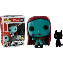 Figurine NBX - Sally With Cat (Seated) Glows In The Dark Flocked Exclusive Pop 10cm