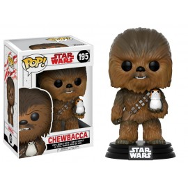 Figurine Star Wars episode 8 - Chewbacca with Porg Pop 10cm