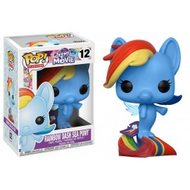 Figurine My Little Pony - MLP Movie Rainbow Dash Sea Pony Pop 10cm
