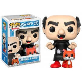 Figurine The Smurfs - Gargamel with Azrael pop 10cm