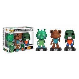 Figurine Star Wars - Tri Pack Greedo, Hammerhead & Walrus man Exclusive Pop 10cm