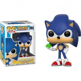 Figurine Sonic The Hedgehog - Sonic with Emerald Pop 10cm