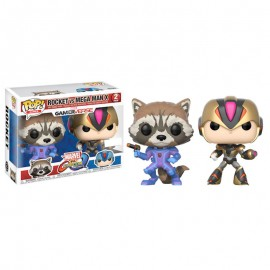 Figurine Marvel VS Capcom - Bi Pack Rocket VS Megaman X Exclusive Pop 10cm