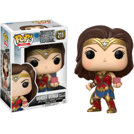 Figurine DC Justice League - Wonder Woman With Mother Box Exclusive Pop 10cm