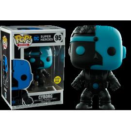 Figurine DC Justice League - Cyborg Silhouette Glows in The Dark Exclusive Pop 10cm