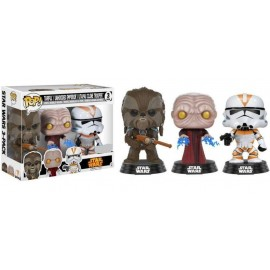 Figurine Star Wars - Tri-Pack Tarfful,Unhooded Emperor,Utapau Clone Trooper Exclusive Pop 10cm