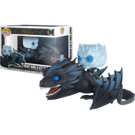 Figurine Game of Thrones - Icy Viserion & Night King Glows in the Dark Pop Rides 15cm