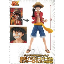 Figurine One Piece - Monkey.D.Luffy Jump 50Th Anniversary 20cm