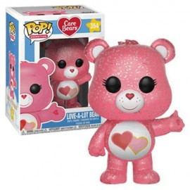 Figurine Care Bears/Bisounours - Love-A-Lot Bear Glitter Exclusive Pop 10cm