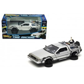 Figurine - Retour vers le futur II - Delorean LK coupe Fly Wheel 1981 1/24 Métal