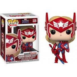Figurine Marvel Future Fight - Sharon Rogers as Captain America Pop 10cm