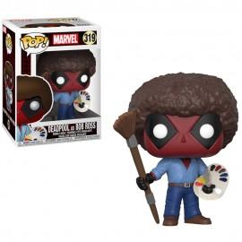 Figurine Marvel - Deadpool - Deadpool as Bob Ross Pop 10cm
