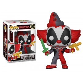 Figurine Marvel - Deadpool Playtime - Clown Deadpool Pop 10cm