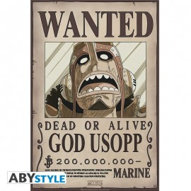 "Poster - One Piece ""Wanted God Usopp"" NEW 2017 52x38cm"