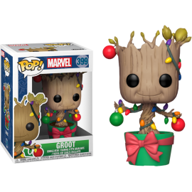 Figurine Marvel - Holiday Groot with Lights and Ornaments Pop 10cm