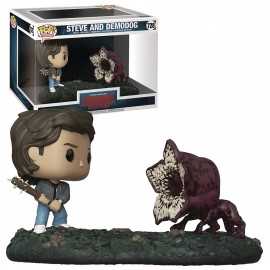 Figurine Stranger Things - Bi-Pack Movie Moments Steve & Demodog Pop 10cm