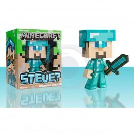 Figurine Minecraft - Steve Diamond en Vinyle 15 cm