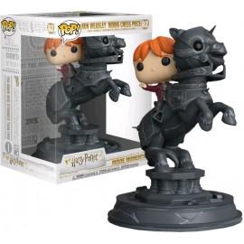 Figurine Harry Potter - Movie Moment Ron Riding Chess Piece Pop 20cm