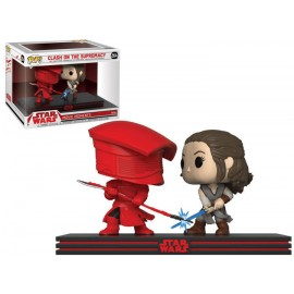 Figurine Star Wars - Bi-Pack Movie Moments Clash on the Supremacy Rey & Praetorian Guard Pop 10cm
