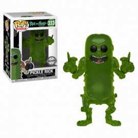 Figurine Rick and Morty - Pickle Rick Translucent Exclusive Pop 10cm