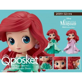 Figurine Q Posket Disney - Ariel Princess Dress Pink Ver.B 14cm