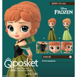 Figurine Q Posket Disney - Frozen - Anna Coronation Normal Ver A 14cm