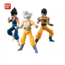 Figurine Dragon Ball Z - Lot de 3 Figurines DBZ Shodo - Vegetto, Ultimate Gohan, Gokou Ultra Instinct 9,5cm