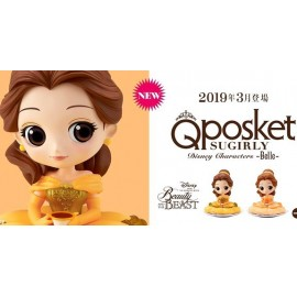 Figurine Q Posket Disney - Belle Sugirly Pastel Color Ver.B 9cm