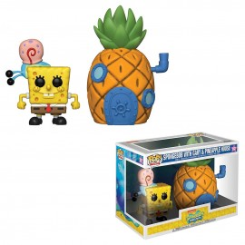 Figurine Bob l'Eponge - Spongebob with Gary & Pineapple House Town Pop 17cm