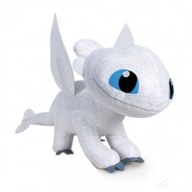 Peluche Dragons 3 : Le Monde caché - Light Fury 60 cm