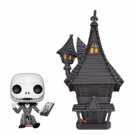 Figurine Nightmare Before Christmas - Jack Skellington & Jack's House Town Pop 17cm