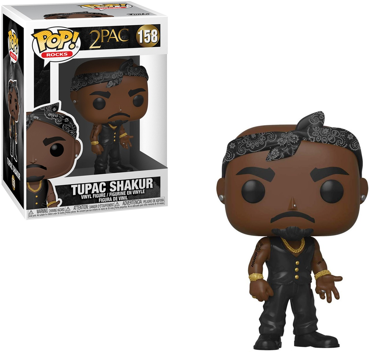 Figurine 2Pac Tupac Shakur Vest with Bandana Pop 10cm