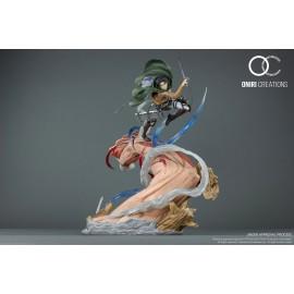 Statue L'Attaque des Titans - Levi VS Female Titan Oniri Creation