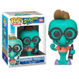 Figurine Bob l'Eponge Le Film - Squidward in Camping Gear Pop 10cm