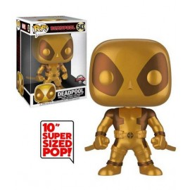 Figurine Deadpool - Thumbs Up Gold Deadpool Supersized Pop 25cm
