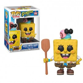 Figurine Bob l'Eponge Le Film - SpongeBob Squarepants with Gary in Camping Gear Pop 10cm