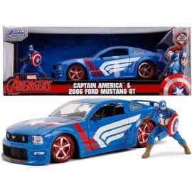 Réplique Marvel - Captain America Hollywood Rides Ford Mustang GT 2006 1/24 métal