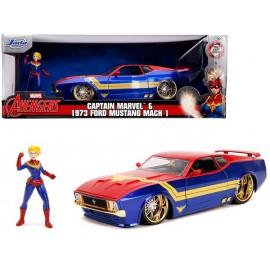 Réplique Marvel - Captain Marvel Hollywood Rides Ford Mustang Mach1 1973 1/24 métal