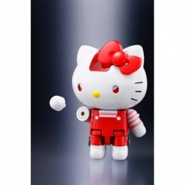 Figurine - Hello Kitty - Hello Kitty Robot Chogokin Red Stripe Version 10cm