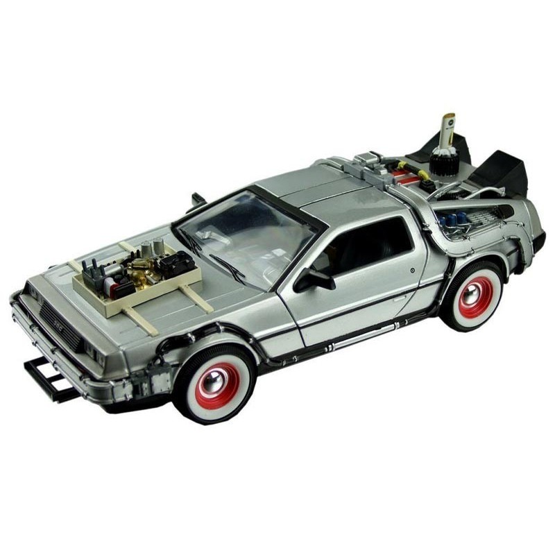 figurine retour vers le futur iii delorean lk coupe 1981 1 24 m tal oyoo. Black Bedroom Furniture Sets. Home Design Ideas