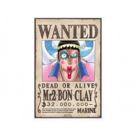 """Poster - One Piece """"Wanted Mr2 Bon Clay """" 52x38cm"""