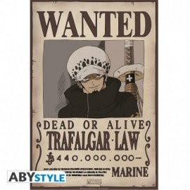 Poster One Piece - Wanted Trafalgar Law 52x35cm