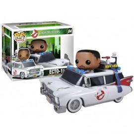 Figurine Ghostbusters - Ecto-1 & Zeddemore Pop 10cm