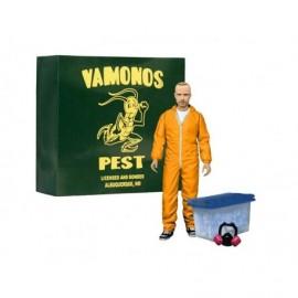 Figurine - Breaking Bad - Jesse Pinkman Chimiste Orange Hazmat Suit 15cm