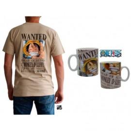 Coffret One Piece Wanted Luffy - Mug & T-Shirt Taille M